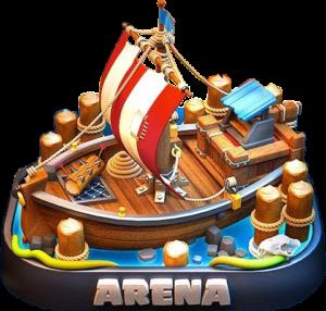 Кусочек из новой арены + скины для башни в Clash Royale (грядущее обновление)